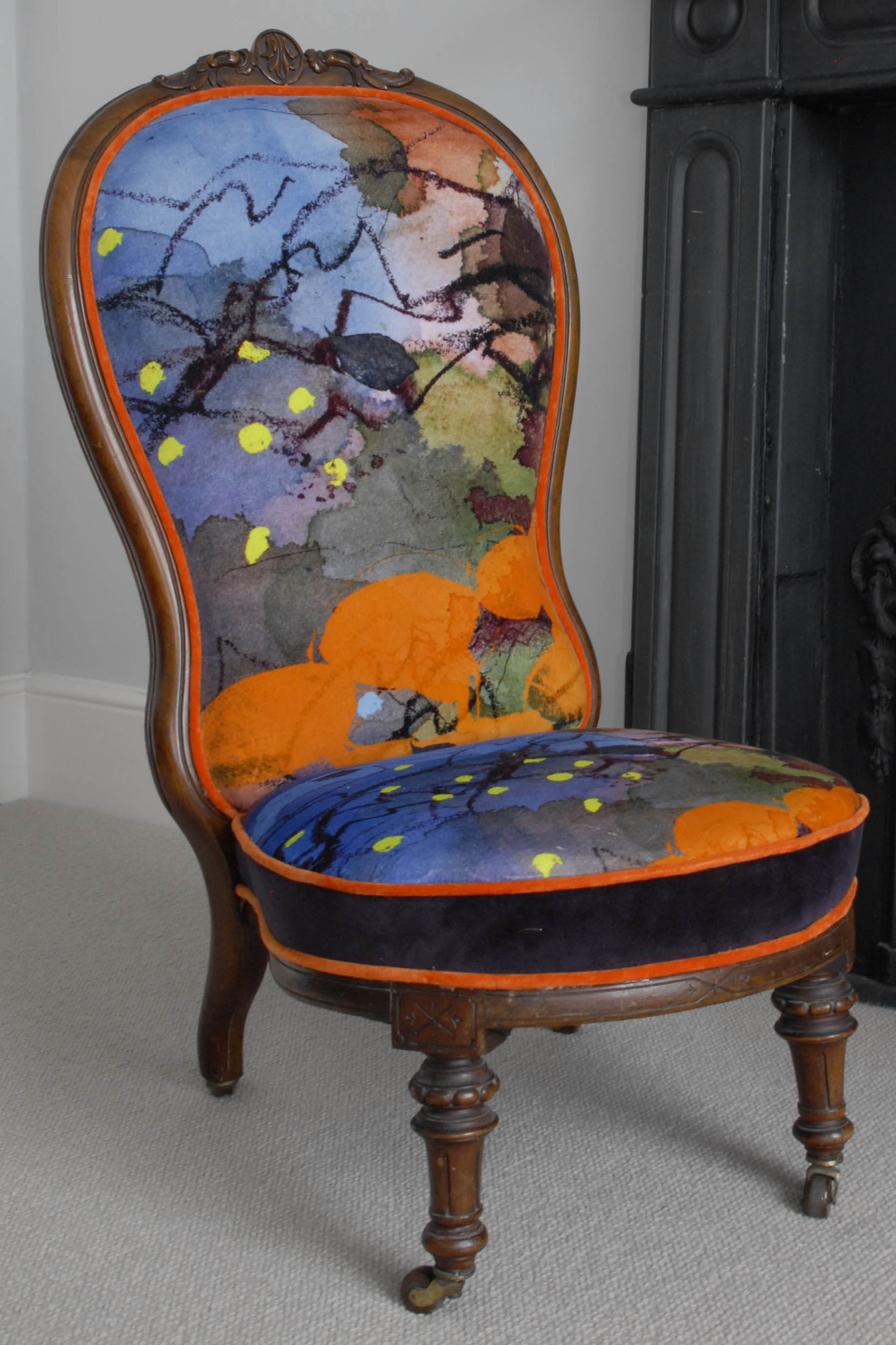 Victorian Balloon Back Salon Chair